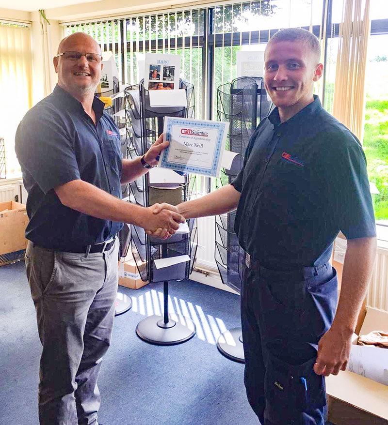 Marc Apprenticeship Certificate