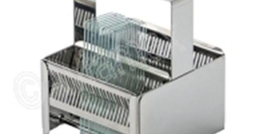 Stainless Steel Slide Staining Rack for 48 Slides