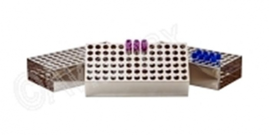 Stainless Steel Solid Sided Test Tube Racks